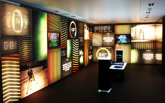 ... editor David Morgan on a series of videos to be used on  floor-to-ceiling LED wall displays all over Niketown New York for the  launch of Nike+ Fuelband.