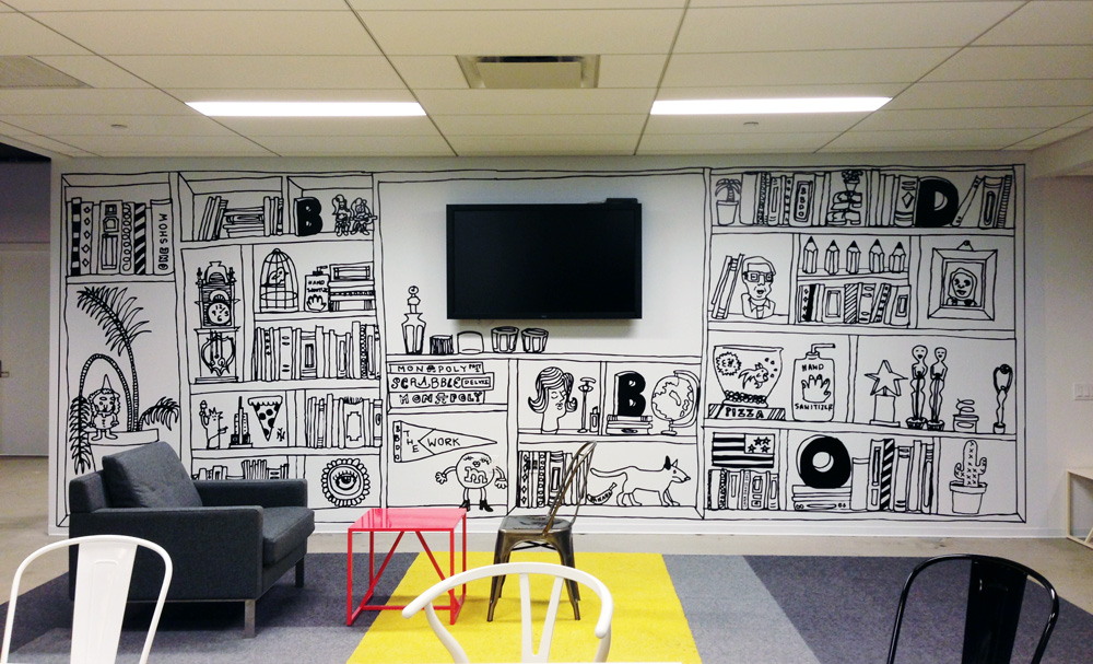 Office Wall Murals Bbdo Office Murals Dana Davis