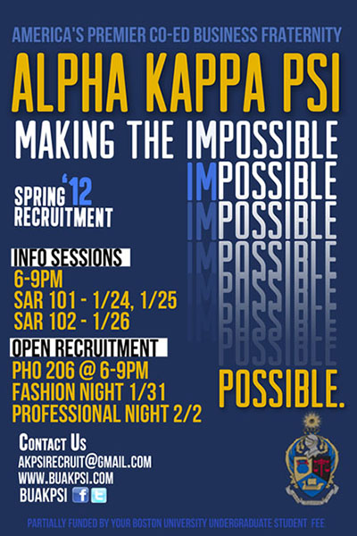 Alpha kappa psi recruitment carol chan portfolio alpha kappa psi recruitment in spring 2012 i assumed the role of marketing director for my co ed business fraternity my team and i was given the colourmoves